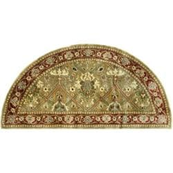 Safavieh Handmade Persian Legend Light Green/ Rust Wool Rug (2'6 x 5' Hearth)