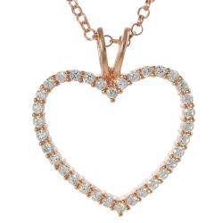 Tressa Rose Gold-plated Sterling Silver Cubic Zirconia Heart Necklace