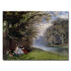 John Buckley 'Young Ladies by the River' Medium Canvas Art