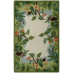 Safavieh Hand-hooked Chelsea Jungle Beige Wool Rug (1'8 x 2'6)