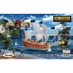 3D 139-piece Pirate Ship Jigsaw Puzzle