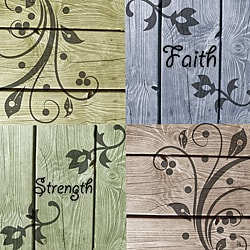 "Ankan 'Faith and Strength' Gallery-Wrapped 24"" x 24"" x 1.5"" Canvas Art"