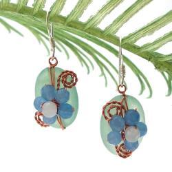 Sweet Daisy Aventurine Floral Nest Earrings (Thailand) 9418924