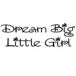 'Dream Big, Little Girl' Vinyl Wall Art Lettering
