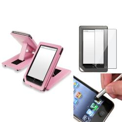 Leather Case/ Screen Protector/ Stylus for Barnes & Noble Nook Tablet