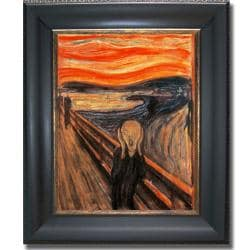 Edvard Munch 'The Scream' Framed Canvas Art