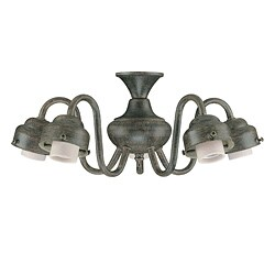 Five Light Aged Pecan Ceiling Fan Light Kit