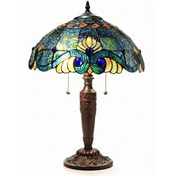 Tiffany Style Blue Vintage Table Lamp