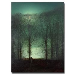 John Atkinson Grimshaw 'Figure in the Moonlight' Canvas Art