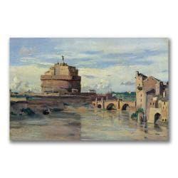 Jean Baptiste Corot 'Castel San Angelo' Canvas Art