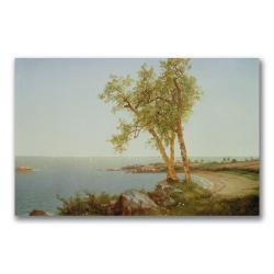 John Kensett 'Rhode Island Coast' Canvas Art