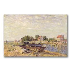 Alfred Sisley 'The Loing at Saint-Mammes II' Gallery-wrapped Canvas Art