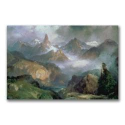 Thomas Moran 'Index Peak, Yellowstone' Canvas Art