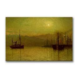 John Grimshaw 'Calm Waters, Scarborough' Canvas Art