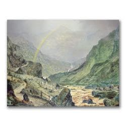 "John Grimshaw 'The Seal of the Covenant' 24"" x 32"" Canvas Art"