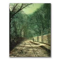 John Grimshaw 'Tree Shadows in the Park Wall' Vertical Canvas Art