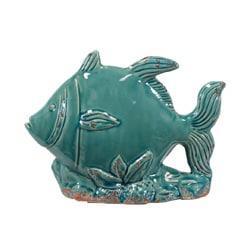 Decorative Blue Ceramic Fish