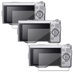 INSTEN Clear Screen Protector for Sony Alpha NEX-3/ NEX-5 (Pack of 3)