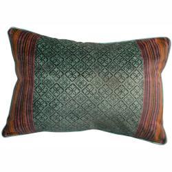 nuLOOM Handmade Ethnic Chic Aqua Decorative Pillow