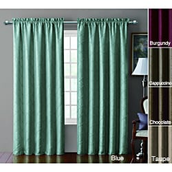 Victoria Classics Sable Pintucked Taffeta Blackout 84 inch Curtain Panel