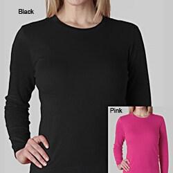Women's Soft Cotton Long Sleeve Crew Neck T-shirt