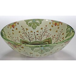 Patterned Glass Sink Bowl