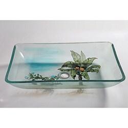 Square Glass Sink Bowl
