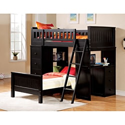 Willoughby Twin Black Finish Loft Bed