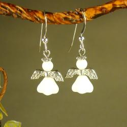 Jewelry by Dawn Sterling Silver Angel Earrings 9477406