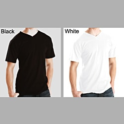 Men's Soft Cotton V-Neck T-shirt (2 Pack)
