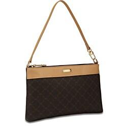 Rioni Signature Brown Convertible Wristlet Bag