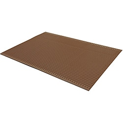Rubber-Cal Safe-Grip Slip-Resistant Traction Mat 7mm Thick x 34 Inch x 4 foot Brown Runner