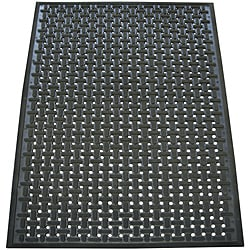 Rubber-Cal Kitchen Mat 100-percent Nitrile Rubber Floor 0.378 Inches Thick 3ft x 5ft Black