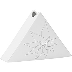 Bridget Triangular Vase L White