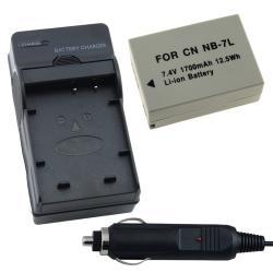 INSTEN Battery/ Charger Set for anon PowerShot G11/ G10/ G12/ SX30/ NB-7L
