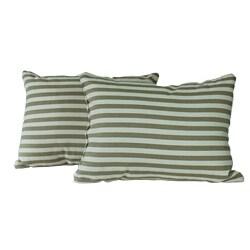 Natural Stripe Throw Pillows (Set of 2)