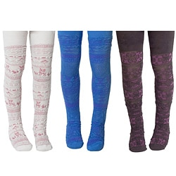Muk Luks Kid's 3 Pair Pack Microfiber Tights