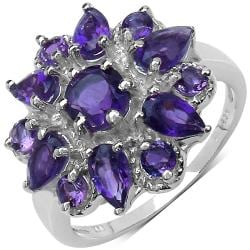Malaika Sterling Silver Purple Amethyst Ring