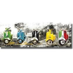 Bresso Sola 'Get Your Mopeds Running' Canvas Art