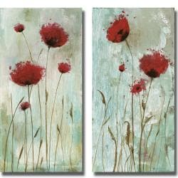 Catherine Brink 'Splash Poppies I and II' 2-piece Canvas Art Set