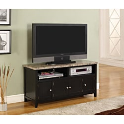 K&B Dark Black Finish TV Stand