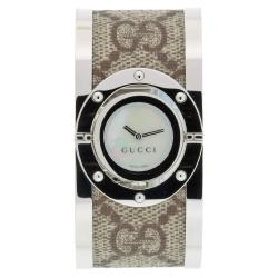 Gucci Women's Twirl Fabric-accented Bangle Watch