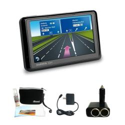 Garmin Nuvi 1390T GPS Navigation System with Deluxe GPS Accessories Kit (Refurbished)