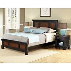 Aspen Collection King-size Bed and Night Stand Set by Home Styles 9580559