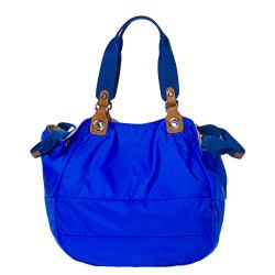 Moncler Electric Blue Nylon Tote Bag
