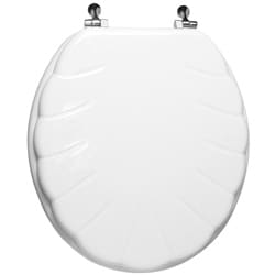 Trimmer Engraved Shell Design Wood Toilet Seat