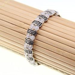 Tibetan Silver White Jade Bracelet (China)