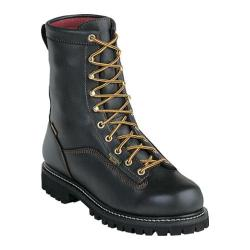 Men's Georgia Boot G83 8in Safety Toe Boot Black Full Grain Leather