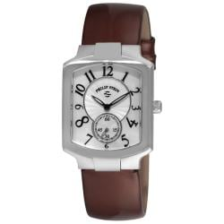 Philip Stein Women's 'Signature Classic' Chocolate Strap Watch