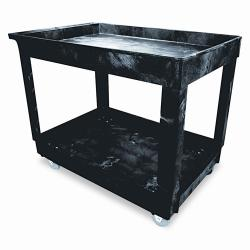 Rubbermaid Service/ Utility 2-shelf Black Cart